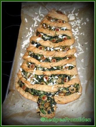 Ready to eat Christmas Tree Bread